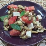 Insalata di Melanzane Feta e Pomodorini