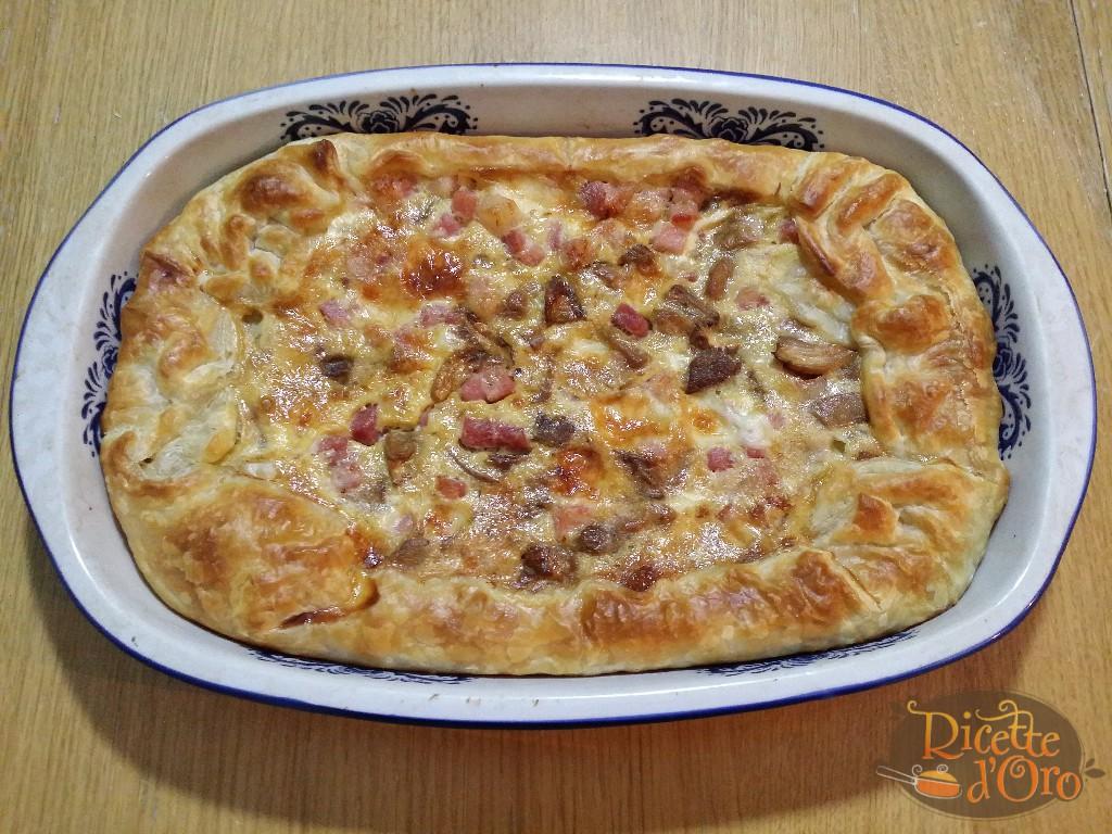Torta Salata Porcini, Pancetta e Asiago