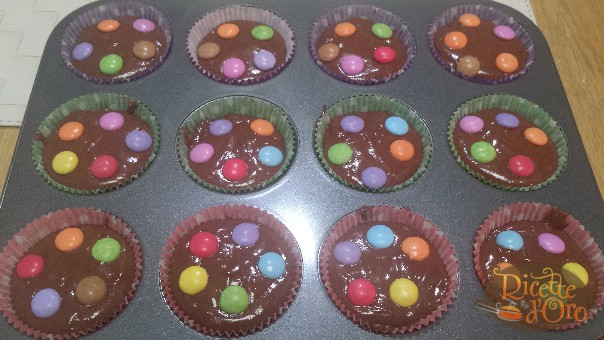 muffin-al-cioccolato-smarties