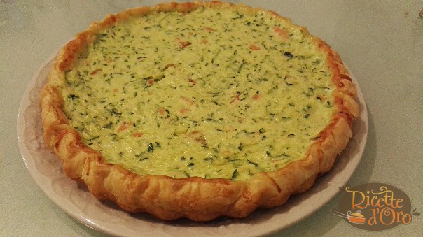 torta salata zucchine salmone e ricotta