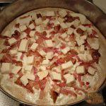 Pizza Panna Funghi e Guanciale